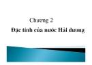 Bài giảng Hải dương học: Chương 2