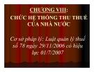 Bài giảng Thuế: Chương 8 - TS. Nguyễn Văn Nhơn