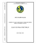 Luận văn thạc sĩ kỹ thuật: Nghiên cứu chất lượng dịch vụ trong hệ thống thông tin di động 3G/UMTS