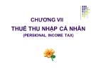 Bài giảng Thuế: Chương 7 - TS. Nguyễn Văn Nhơn