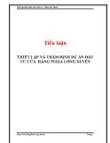 Tiểu luận: Thiết lập và thẩm định dự án đầu tư cửa hàng Pizza Long Xuyên