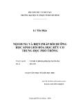 Luận văn thạc sĩ đề tài: Nội dung và biện pháp bồi dưỡng học sinh giỏi Hóa học hữu cơ trung học phổ thông