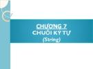 Bài giảng Phương pháp lập trình: Chương 7 - GV. Từ Thị Xuân Hiền