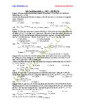 Đề thi Cao đẳng môn Hóa khối A năm 2007 (Mã đề 326) kèm lời giải chi tiết