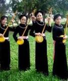 Khóa luận tốt nghiệp Văn hóa du lịch: Đặc điểm và giá trị văn hóa của dân tộc Tày tại Định Hóa -Thái Nguyên. Hiện trạng và giải pháp