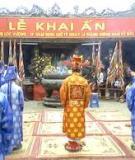 Khóa luận tốt nghiệp Văn hóa du lịch: Tìm hiểu việc tổ chức, quản lý, khai thác Lễ khai ấn đền Trần với phát triển du lịch của tỉnh Nam Định