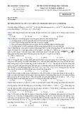 Đề thi Đại học môn Vật lí khối A & A1 năm 2014 (Mã đề 493)