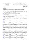 Đề thi Đại học môn Hóa học khối A năm 2014 (Mã đề số 825)