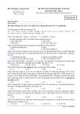 Đề thi Đại học môn Hóa học khối A năm 2014 (Mã đề 596)