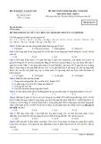 Đề thi Đại học môn Hóa học khối A năm 2014 (Mã đề 357)