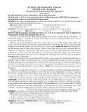 Đề thi Đại học môn Anh văn khối D1 năm 2014 (Mã đề 852)