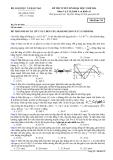 Đề thi Đại học môn Vật lí khối A & A1 năm 2014 (Mã đề 319)