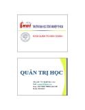 Bài giảng Quản trị học - ThS. Nguyễn Ngọc Long