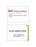 Bài giảng Quản trị bán hàng: Chương 5 - ThS. Nguyễn Ngọc Long