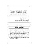 Bài giảng Chấn thương thận - ThS. Lê Quang Trung