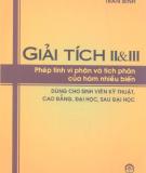 Giáo trình Giải tích II&III: Phần 1 - Trần Bình