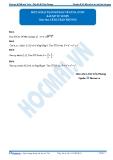 Luyện thi Đại học Kit 1 - Môn Toán: Một số bài toán mở đầu về GTLN, GTNN (Bài tập tự luyện)