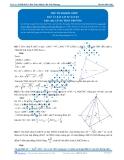 Luyện thi Đại học Kit 1 - Môn Toán: Thể tích khối chóp Phần 02 (Đáp án bài tập tự luyện)
