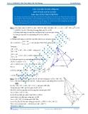 Luyện thi Đại học Kit 1 - Môn Toán: Các vấn đề về góc Phần 02 (Đáp án bài tập tự luyện)