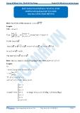 Luyện thi Đại học Kit 1 - Môn Toán: Một số bài toán mở đầu về GTLN, GTNN (Hướng dẫn giải bài tập tự luyện)
