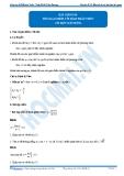 Luyện thi Đại học Kit 1 - Môn Toán: Chuyên đề 02 Hàm số và các bài toán liên quan