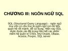 Bài giảng Quản trị cơ sở dữ liệu - Chương 3: Ngôn ngữ SQL