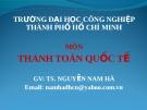 Bài giảng Thanh toán Quốc tế: Chương 3 - Nguyễn Nam Hà
