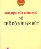 Ebook Nghị định của chính phủ về chế độ nhuận bút: Phần 1 - NXB Chính trị quốc gia