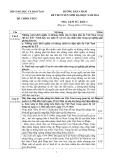Đáp án chính thức môn Lịch Sử ĐH khối C 2014