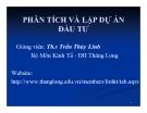 Bài giảng Phân tích và lập dự án đầu tư: Chương 1 - ThS.Trần Thùy Linh