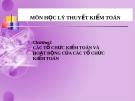 Bài giảng Lý thuyết kiểm toán - Chương 2: Các tổ chức và hoạt động của các tổ chức kiểm toán