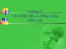 Bài giảng Lý thuyết kiểm toán - Chương 5: Cơ sở dẫn liệu và bằng chứng kiểm toán