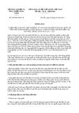 Thông báo 2560/TB-BNN-VP năm 2014