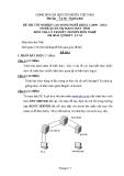 Đề thi & đáp án lý thuyết Quản trị mạng máy tính năm 2012 (Mã đề LT3)