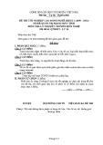 Đề thi & đáp án lý thuyết Quản trị mạng máy tính năm 2012 (Mã đề LT10)