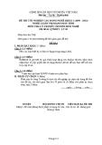 Đề thi & đáp án lý thuyết Quản trị mạng máy tính năm 2012 (Mã đề LT9)