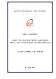 Luận văn thạc sỹ kỹ thuật: Nghiên cứu công nghệ chuyển mạch mềm di động và khả năng ứng dụng cho viễn thông Lào