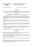 Quyết định 2954/QĐ-BNN-KHCN năm 2013