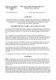 Quyết định 2181/QĐ-BNN-CB năm 2013 do Bộ trưởng Bộ Nông nghiệp và Phát triển nông thôn ban hành