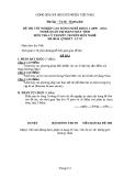 Đề thi & đáp án lý thuyết Quản trị mạng máy tính năm 2012 (Mã đề LT7)