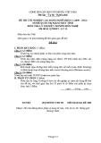 Đề thi & đáp án lý thuyết Quản trị mạng máy tính năm 2012 (Mã đề LT12)