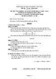 Đề thi & đáp án lý thuyết Quản trị mạng máy tính năm 2012 (Mã đề LT8)
