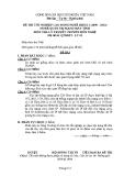 Đề thi & đáp án lý thuyết Quản trị mạng máy tính năm 2012 (Mã đề LT2)