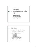 Bài giảng Công nghệ phần mềm: Chương 1 - Nguyễn Thanh Bình