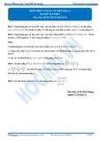 Luyện thi Đại học Kit 1 - Môn Toán Hình học giải tích trong không gian: Kiến thức cơ bản cần nhớ_P2 (Bài tập tự luyện)