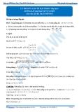 Luyện thi Đại học Kit 1 - Môn Toán: Lý thuyết cơ sở về mặt phẳng tiếp theo (Hướng dẫn giải bài tập tự luyện