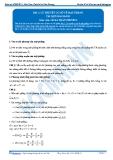 Luyện thi Đại học Kit 1 - Môn Toán Bài 3: Lý thuyết cơ sở về mặt phẳng (Tài liệu bài giảng)