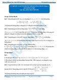 Luyện thi Đại học Kit 1 - Môn Toán: Lý thuyết cơ sở về phương trình đường thẳng_P2 (Bài tập tự luyện)