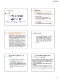 Bài giảng Tài chính Quốc tế: Chương 1 - ĐH Công nghiệp Tp.HCM