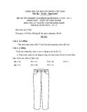 Đề thi lý thuyết May & thiết kế thời trang năm 2011 (Mã đề TH15)
